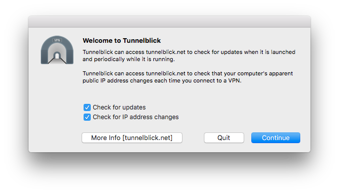 Downloading and Installing Tunnelblick - Tunnelblick | Free