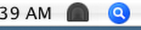 close up view showing dimmed Tunnelblick icon in status bar
