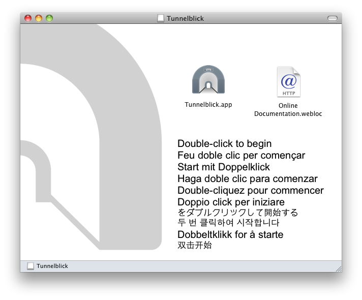 Downloading and Installing Tunnelblick - Tunnelblick | Free open