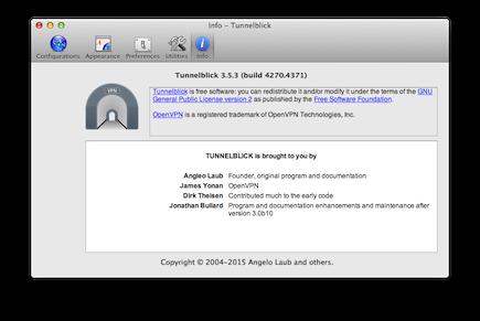 Using Tunnelblick - Tunnelblick | Free open source OpenVPN VPN